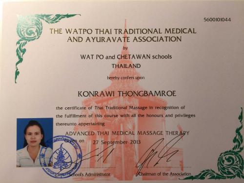 Zertifikat Fortgeschrittene Massagetechniken und Therapieformen - Wat Po
